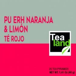 Pirámides té rojo pu erh naranja y limón