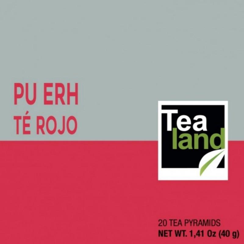 Pirámides té rojo pu erh