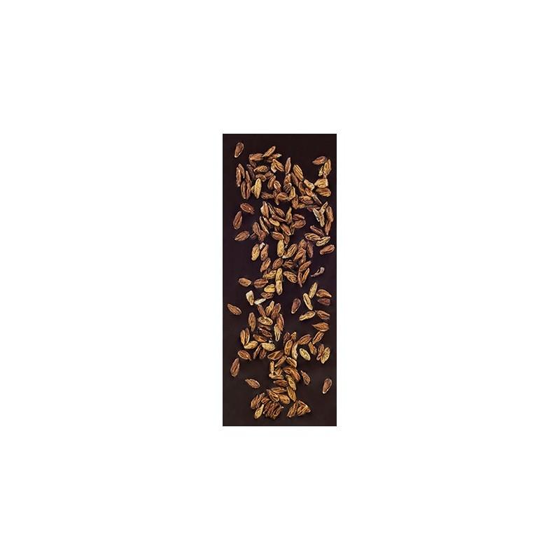 Chocolate negro ecológico 72% cacao con semillas de olivo La Virgitana