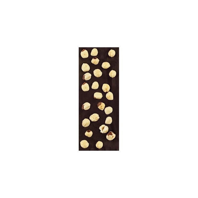 Chocolate negro ecológico 72% cacao con avellana La Virgitana
