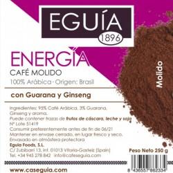 Café Energía arábica tueste natural origen Brasil