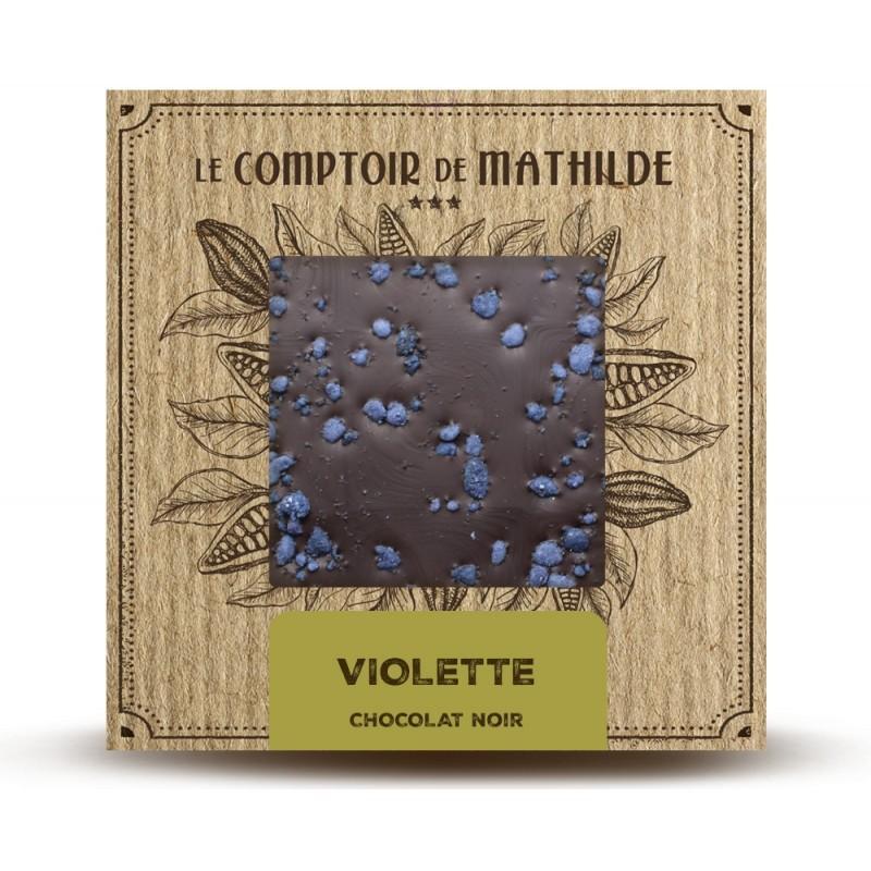 Chocolate negro con violeta Le Comptoir de Mathilde