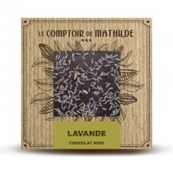 Chocolate negro con lavanda le comptoir de Mathilde