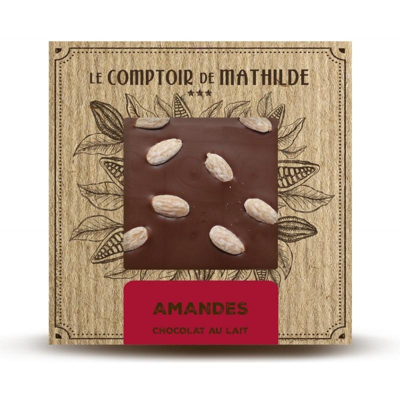 Chocolate con leche y almendras caramelizadas le comptoir de mathilde