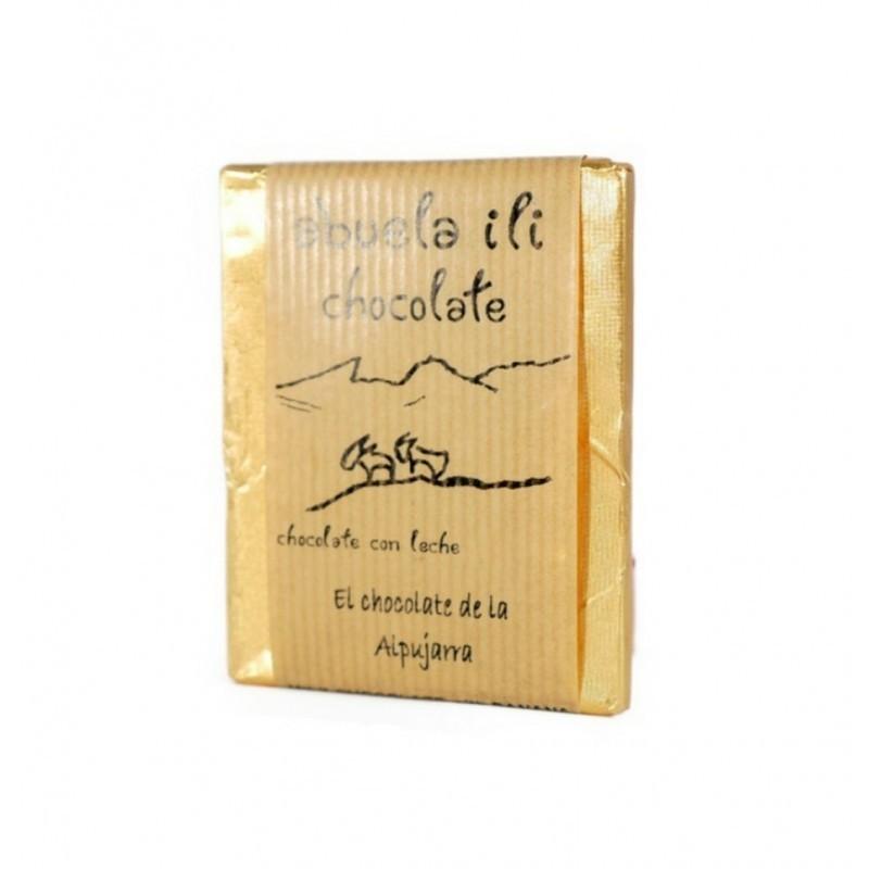 Chocolate con leche y caramelo sal Abuela Ili