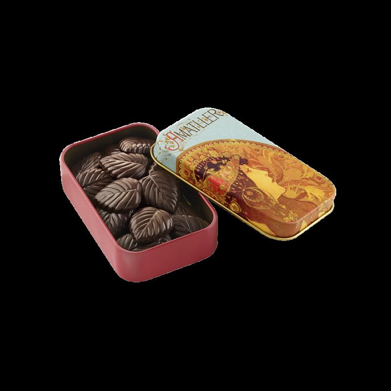 Hojas finas 70% cacao lata I