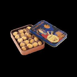 Hojas finas chocolate con leche y fruta de la pasión lata maxi I