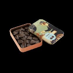 Hojas finas 70% cacao con sal de mar lata maxi I
