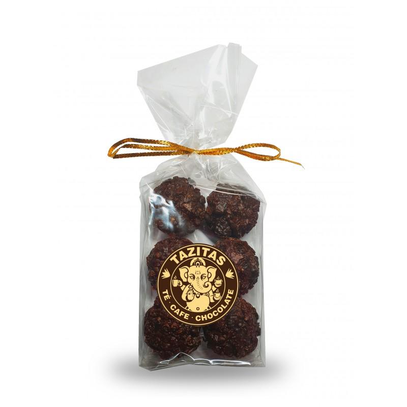 Rocas crunch chocolate negro con arándanos Tazitas