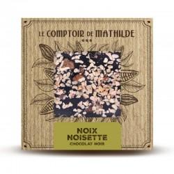 Chocolate negro con nueces y avellanas caramelizadas Le Comptoir de Mathilde
