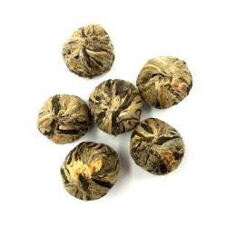 Flor de té verde Marygold Silvery Stage (Blooming tea)