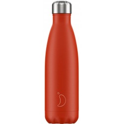 Botella termo neón rojo 500 ml Chilly´s