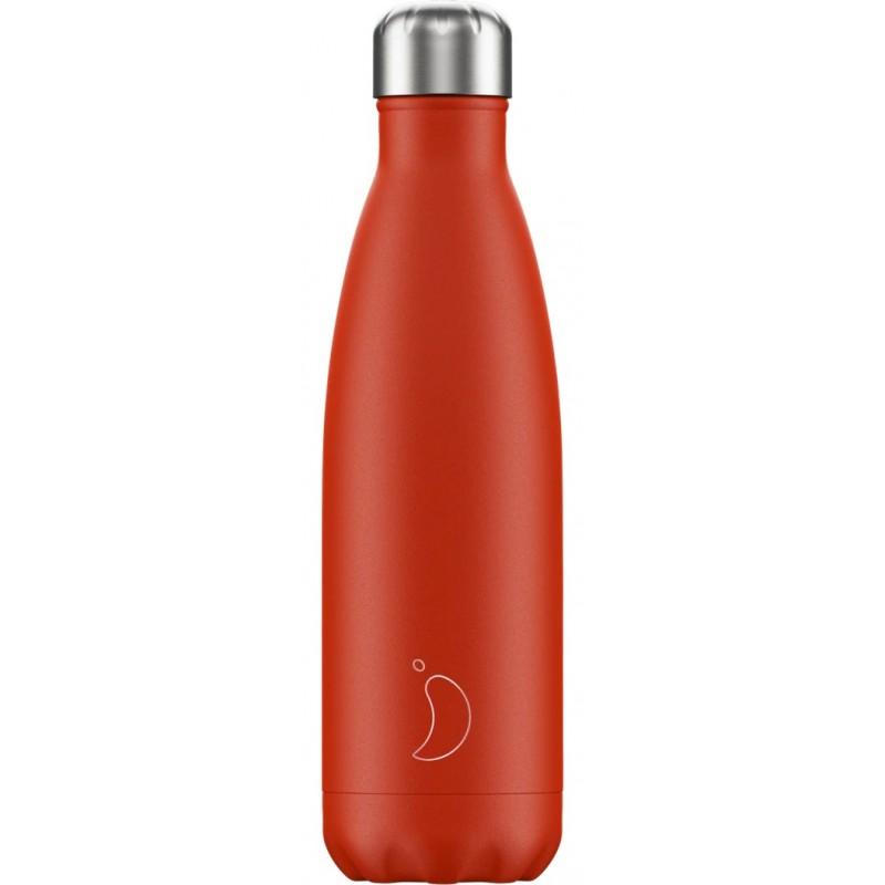 Botella termo neón rojo 500 ml Chilly´s