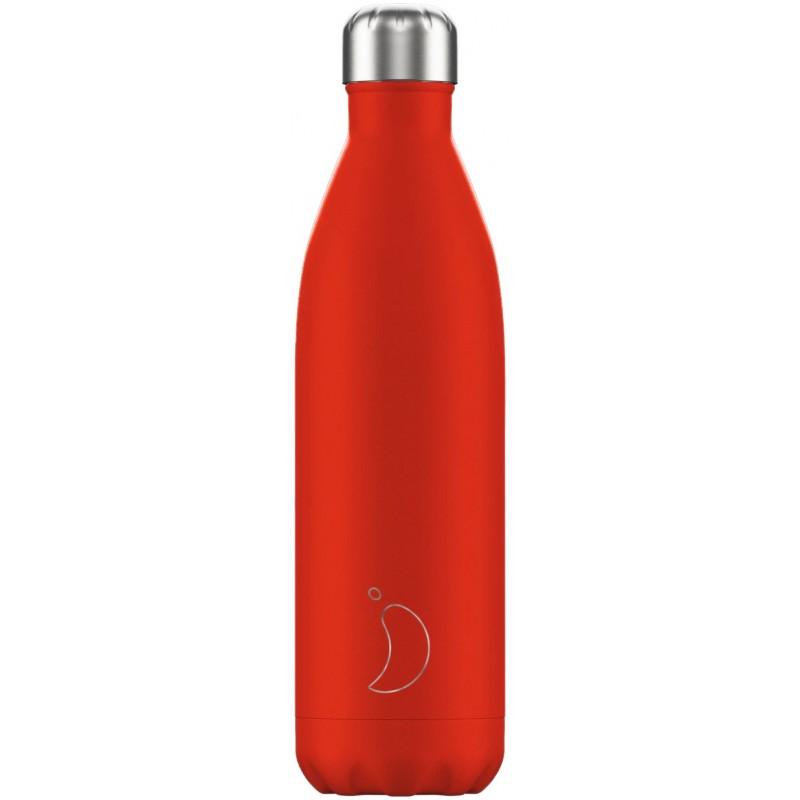 Botella termo neón rojo 750 ml Chilly´s