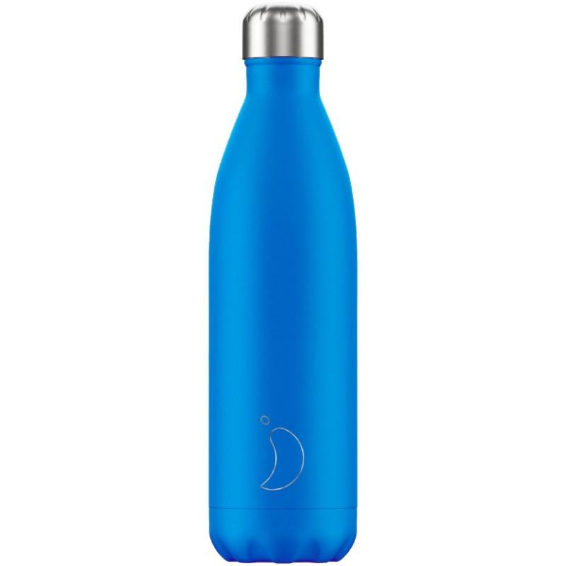 Botella termo neón azul 750 ml Chilly´s