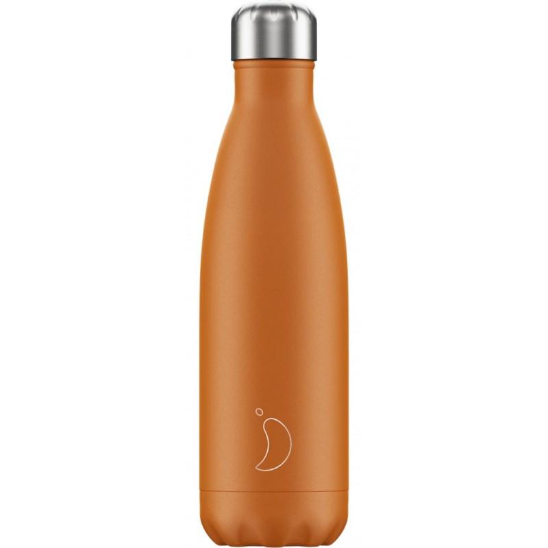 Botella termo mate naranja 500 ml Chilly´s