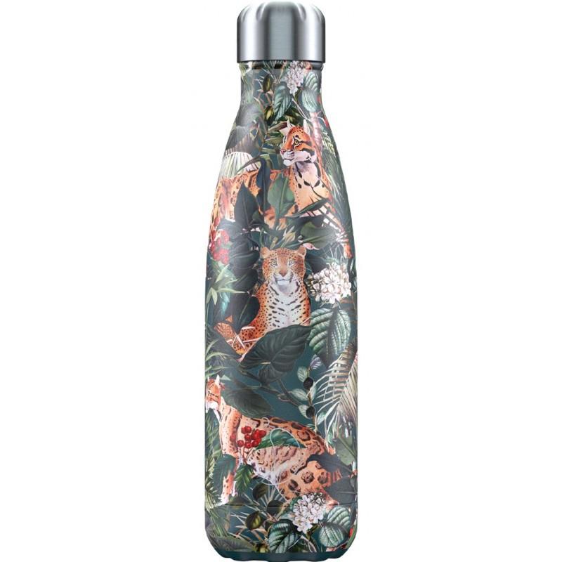 Botella termo Tropical Leopardo 500 ml Chilly´s