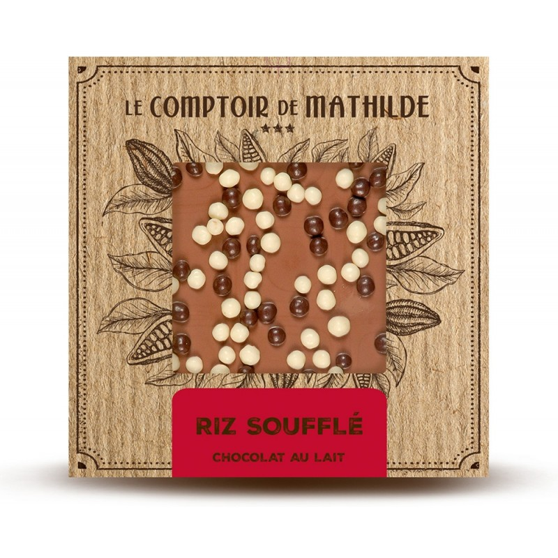 Chocolate con leche con cereales recubiertos de chocolate Le Comptoir de Mathilde