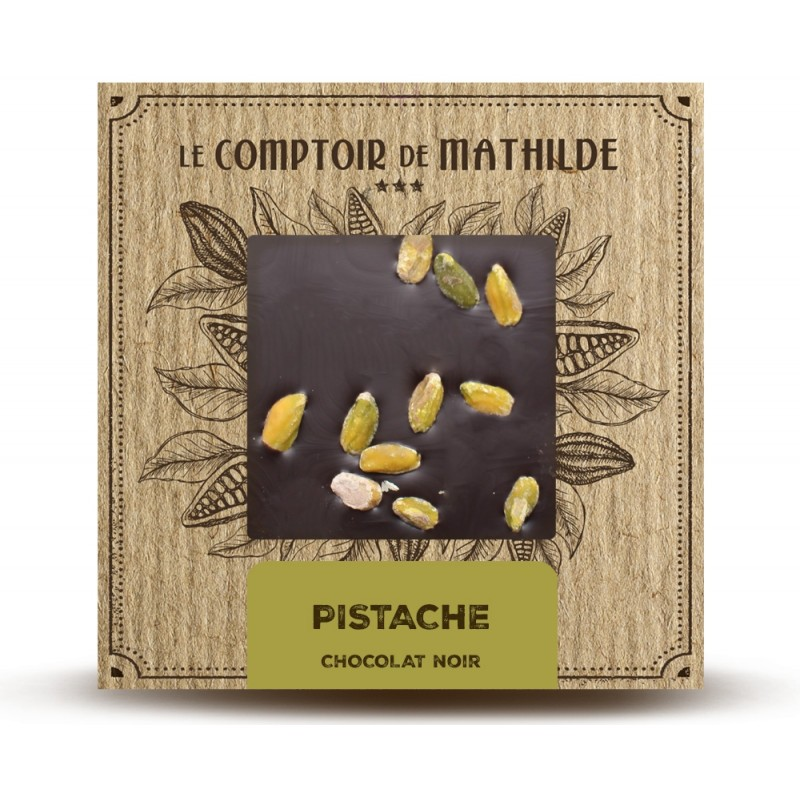 Chocolate negro con pistachos Le Comptoir de Mathilde