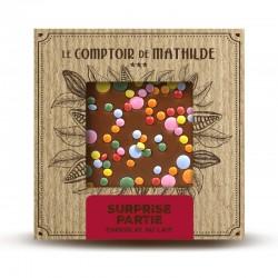 Chocolate con leche y grageas de chocolate Le Comptoir de Mathilde