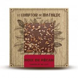 Chocolate con leche  y nueces de pecán caramelizadas La Comptoir de Mathilde