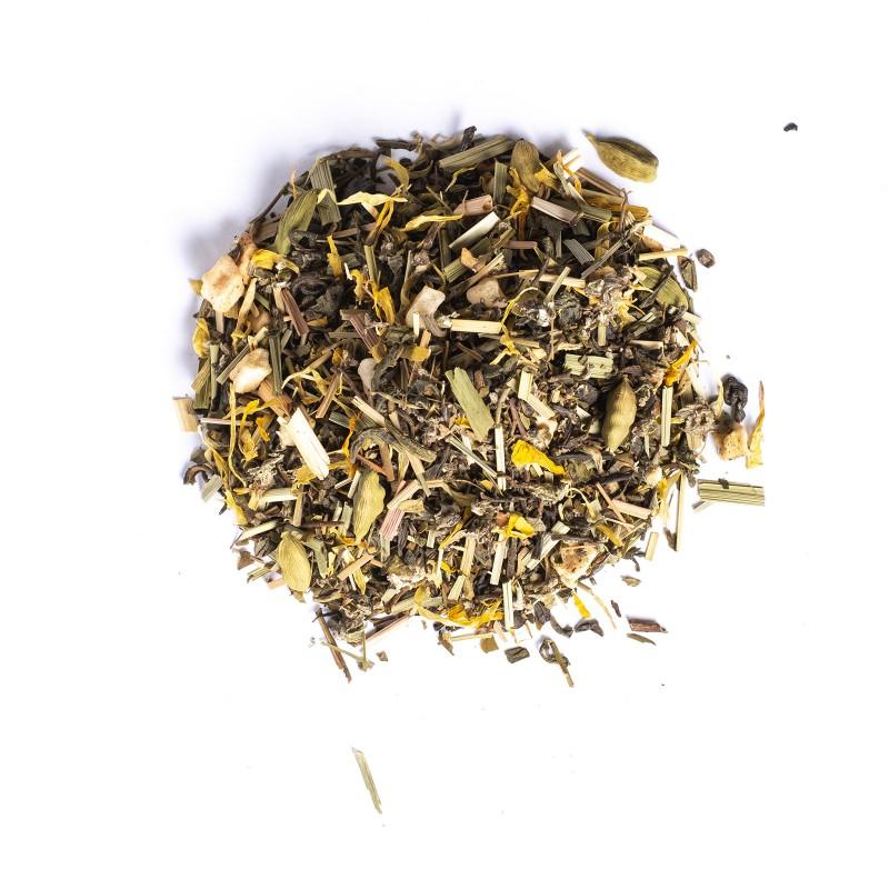 Mezcla de tés verde y blanco jengibre y miel