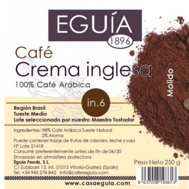 Café de crema inglesa tueste natural origen Brasil