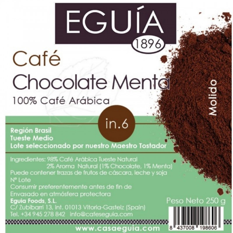 Café de chocolate menta